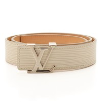 AUTHENTIC LOUIS VUITTON SAN TUR LV INITIAL EPI BELT M9605 WHITE GRADE A USED -AT