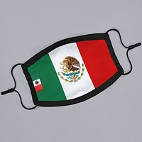 Mexico Flag Flat Face Mask