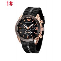 Emporio Armani Hot Sale Retro Men Women Chic Quartz Watches Wrist Watch 1#