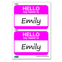 Emily Hello My Name Is - Sheet of 2 Stickers