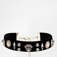 Limited Edition Velvet Stone Choker Necklace at asos.com