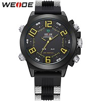 New Silicone Digital LED Watch Men Sports Series Multi-functional Dual Time Zones Display Latest Products For Male