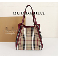 BURBERRY WOMEN'S Haymarket Check CANVAS HANDBAG TOTE BAG