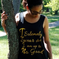 I Solemnly Swear That I Am Up To No Good Tank Top. Marauder's Map Shirt. Unisex Tank Top.