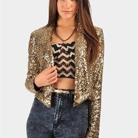 All Saints Sequin Jacket - Gold at Necessary Clothing