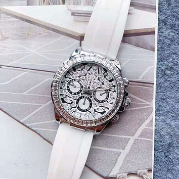 Rolex new men's and women's casual business personality inlaid diamond watches