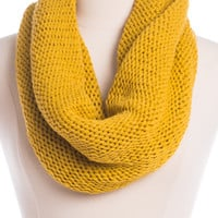 Cozy Up Infinity Scarf, Gold