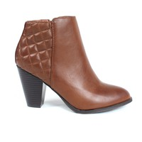 Quilted Ankle Boots Brown