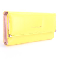Yellow Faux Leather Cute Wallet Clutch