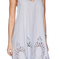 Gray Cut Out Cami Dress with Open Back