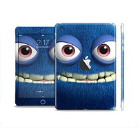 The Angry Blue Fury Monster Full Body Skin Set for the Apple iPad Mini 2