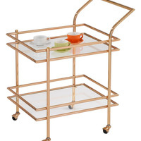 Rectangular Wheeled Bar Cart