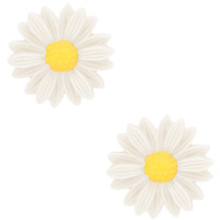 Sunflower Bella Earrings - White