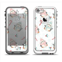The Christmas Suited Fat Penguins Apple iPhone 5-5s LifeProof Fre Case Skin Set