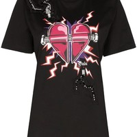 Ladies Lightning Love Graphic T-Shirt by Prada