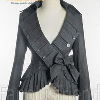 Elegant Goth Gothic Pirate Pleat Short Jacket