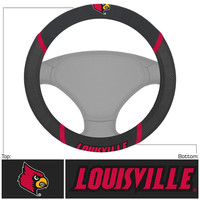 Louisville Cardinals NCAA Polyester Steering Wheel Cover