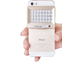 S60 Mini 32 LED Powerful 5600K Cell Mobile Phone Photo Video Light for Camera Gopro/ iPhone 5/ Samsung/ Accessories Smart Phone