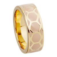 Buy Astley Clarke Colour Honeycomb 18ct Gold Vermeil Stacking Ring | John Lewis