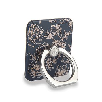 Rose Gold Chrome Floral Phone Ring