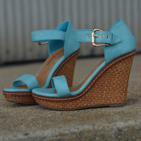 'Spring Fever' Wedge by Pierre Dumas {Turquoise}