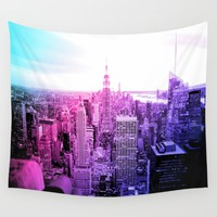 New York City : Pastel  Wall Tapestry by 2sweet4words Designs
