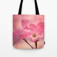 Colors of Spring: Pink Dogwood Tote Bag by Legends Of Darkness Photography