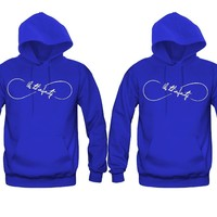 Us Till Infinity Very Cute Unisex Couple Matching Hoodies