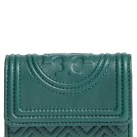 Tory Burch 'Mini Fleming' Quilted Lambskin Leather Wallet | Nordstrom
