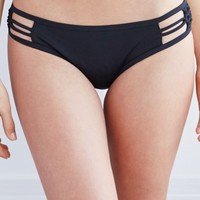 LA Hearts Macrame Side Skimpy Bikini Bottom - Womens Swimwear - Black