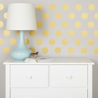 Lottie Dots Polka Dot Wall Decals (Gold) in Wall Decals | The Land of Nod