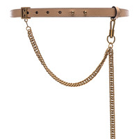 Givenchy Shiny Leather One Buckle Belt in Powder | FWRD