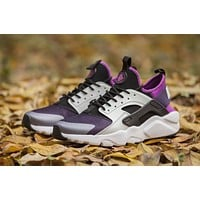 Nike Air Huarache 4 Run Rainbow Ultra Breathe Women Men purple/White Running Sport Casual Shoes Sneakers - 937
