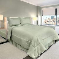 Veratex American Collection 300-Thread Count Solid 4-pc. Comforter Set - Queen (Green)