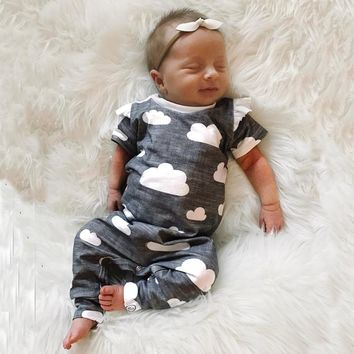 Sleeping in the Clouds Cotton Romper