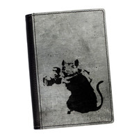 Banksy Rat with Camera 2  High Quality PU Faux Leather Passport Cover by Banksy