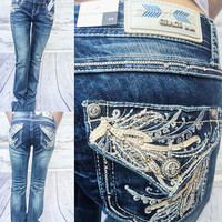 GRACE IN L.A NEW LEAF BOOTCUT JEANS
