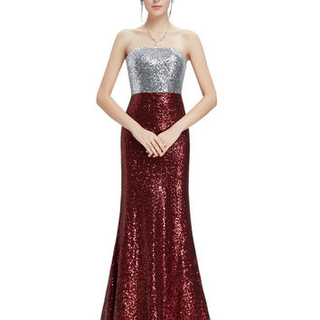 Prom Dresses New Arrival Women Strapless Flare Sequins Long Elegant Sexy On Line Evening Party HE08372SB 2016 Prom Dresses