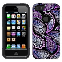 Otterbox Commuter Pink Purple Paisley on Black Case for iPhone 5