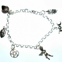 Enchanted Forest Silver Charm Bracelet  at Every Witch Way Online Shop