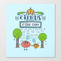 Citrus the Musical Broadway Show Poster Canvas Print by Stephanie Troutner Designs