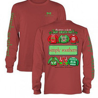 Simply Southern Tacky Sweater Party Top - Rust