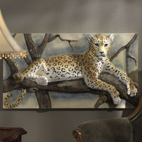 Design Toscano The Leopards Lair Sculptural Wall Décor