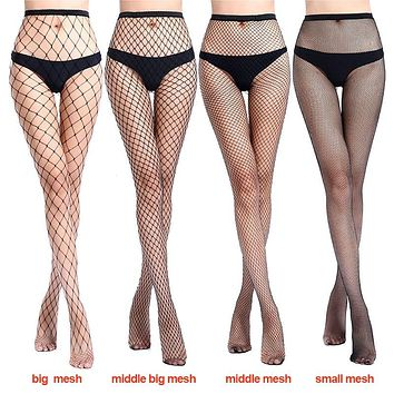2018 Women Sexy Fishnet Stockings Fish Net Fashion Pantyhose Mesh Black Stockings Lingerie Thigh High Stocking Hot Sell