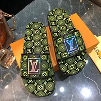 Louis Vuitton LV Popular Summer Women's Flats Men Slipper LV Sandals Shoes