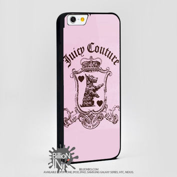 Juicy Couture Rubber Pink Logo  For Apple, Iphone, Ipod, Samsung Galaxy Case
