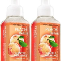 Bath&Body Works Gentle Foaming Hand Soap Peach Bellini, 8.75 Ounce, (Pack of 2)