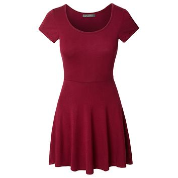 Fit and Flare Asymmetrical Skater Dress (CLEARANCE)