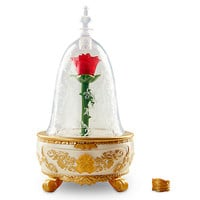 Disney Store Beauty & the Beast Enchanted Rose Jewelry Box Toy Live Auction New
