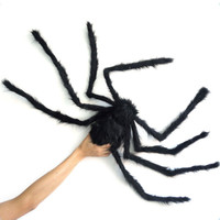 Large Size Plush Spider made of wire and plush two style Funny Toy for party or